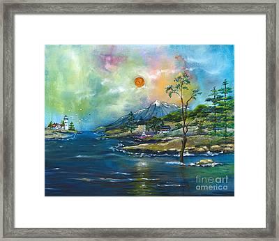 Coastal Landscape - Sunrise - Sunset Framed Print by M E Wood