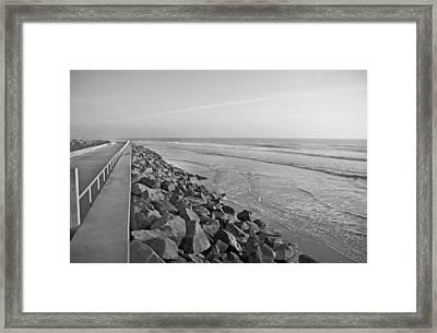 Coastal Lines Framed Print by Betsy Knapp