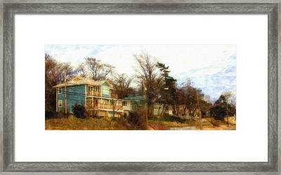 Coastal Living On The Dunes Of The Big Lake Framed Print by Rosemarie E Seppala