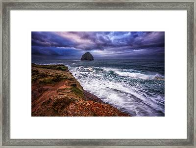 Coastal Madness Framed Print by Darren  White