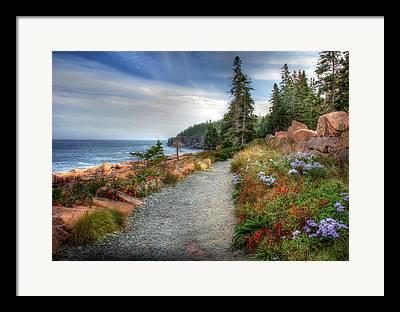 Maine Landscapes Mixed Media Framed Prints