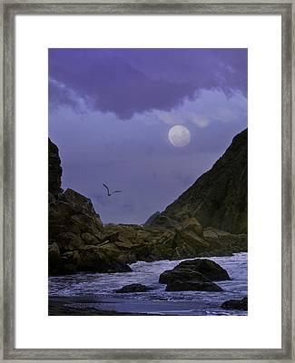 Coastal Moods Moonglo Framed Print