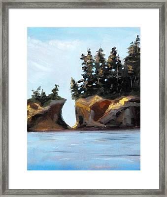 Coastal Framed Print by Nancy Merkle