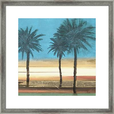 Coastal Palms II Framed Print