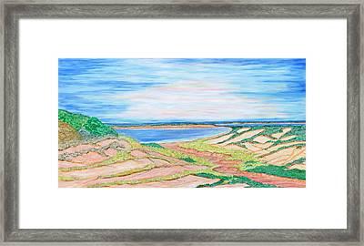 Coastal Patchwork Framed Print