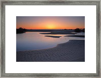 Coastal Ponds At Sunrise II Framed Print by Steven Ainsworth