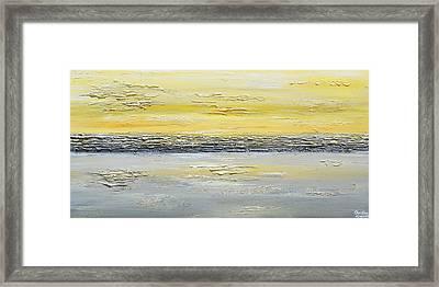Coastal Reflections Framed Print by Christine Krainock