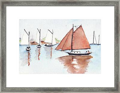 Coastal Reflections Framed Print by Robert Parsons