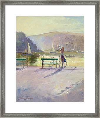 Coastal Rider Framed Print by Timothy Easton