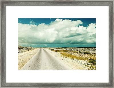 Coastal Road Around Bonaire Framed Print by James White