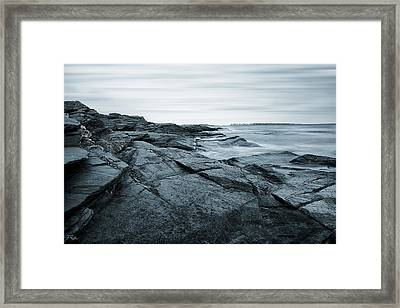 Coastal Rocks Framed Print by Lourry Legarde