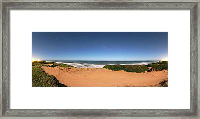 Coastal Sand Dunes Framed Print by Luis Argerich