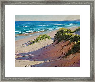 Coastal Sand Framed Print