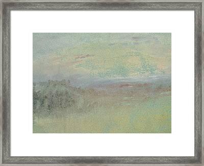 Coastal Scene Framed Print by Joseph Mallord William Turner