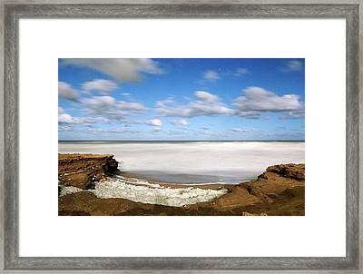 Coastal Sea Foam Framed Print by Luis Argerich