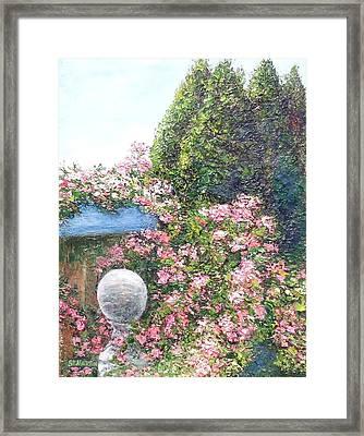 Coastal Sea Roses Framed Print by Annie St Martin
