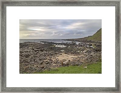 Coastal Stone Giant's Causeway -- Ireland Framed Print by Betsy Knapp