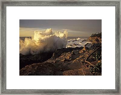 Coastal Storm Wave Framed Print