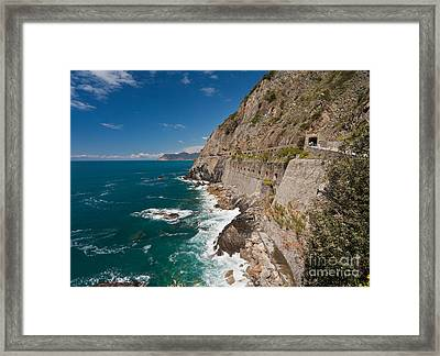 Coastal Stroll Framed Print by Mike Reid