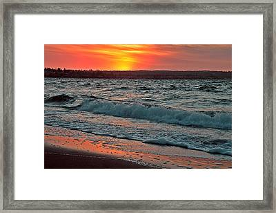 Coastal Sunset Framed Print by Brian Chase