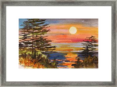 Coastal Sunset Framed Print by John Williams