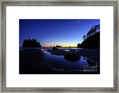 Coastal Sunset Skies Reflection Framed Print by Mike Reid