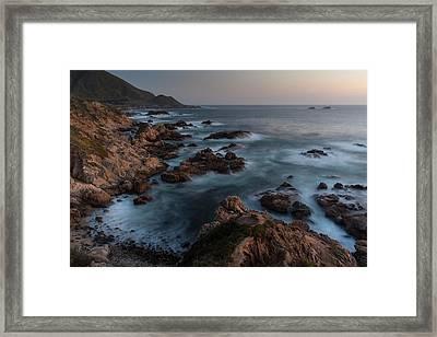 Coastal Tranquility Framed Print by Mike Reid