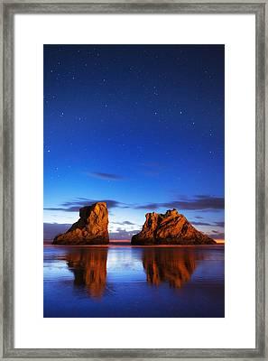 Coastal Twilight Framed Print by Darren  White