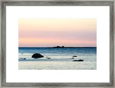 Coastal Twilight View Framed Print