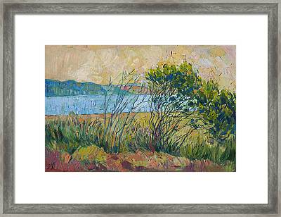 Framed Print featuring the painting Coastal View by Erin Hanson