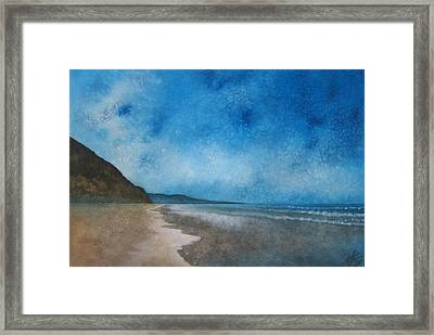Coastal Walk At Torrey Pines Framed Print