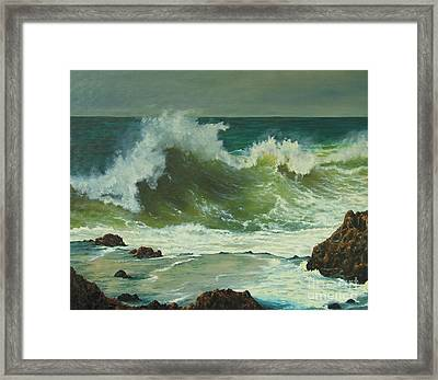 Coastal Water Dance Framed Print by Jeanette French