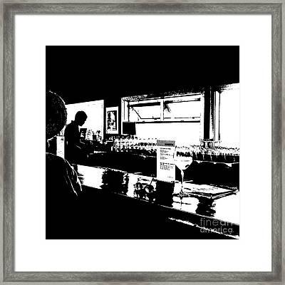 Coastal Wine Bar Framed Print by Connie Fox