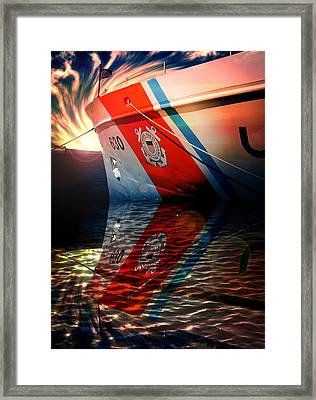 Coast Guard Uscg Alert Wmec-630 Framed Print by Aaron Berg