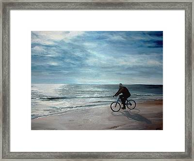 Coasting On The Coast Framed Print by Diane Mikula