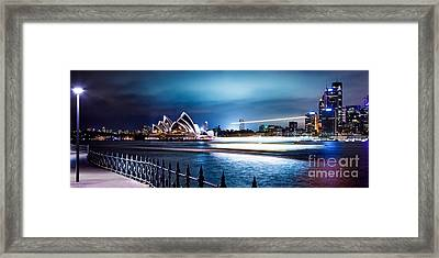 Coasting On The Harbour Framed Print