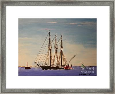 Coasting Schooner Glendon Framed Print by Bill Hubbard