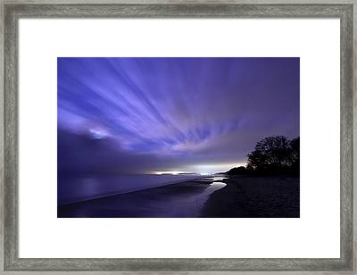 Coastline At Night Framed Print by EXparte SE