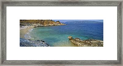 Coastline, Cephalonia, Ionian Islands Framed Print