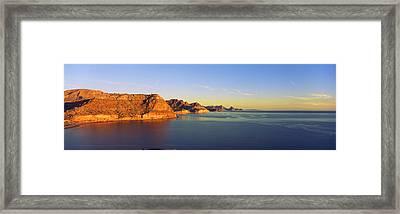 Coastline, Gulf Of California, Baja Framed Print