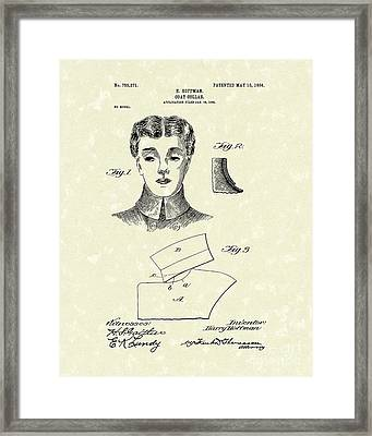 Coat Collar 1904 Patent Art Framed Print by Prior Art Design