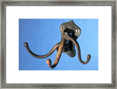 Coat Hanger From The Titanic Framed Print by Science Photo Library
