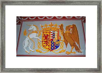 Coat Of Arms Of James II Framed Print by Courtney Dagan