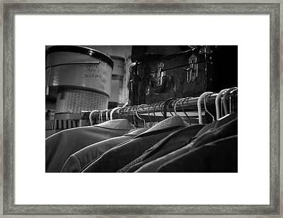 Coats Hatboxes And A Trunk - Bw Framed Print by Nikolyn McDonald