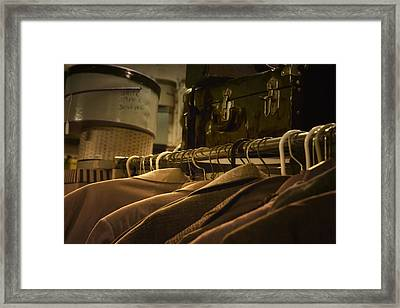 Coats Hatboxes And A Trunk Framed Print by Nikolyn McDonald