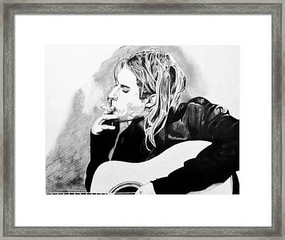 Cobain Framed Print by Jeremy Moore