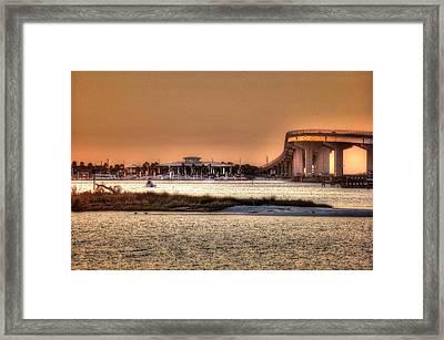 Cobalt And Bridge Framed Print by Michael Thomas