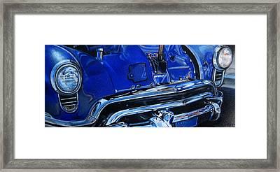 Cobalt Blue Framed Print by Kathleen Bischoff