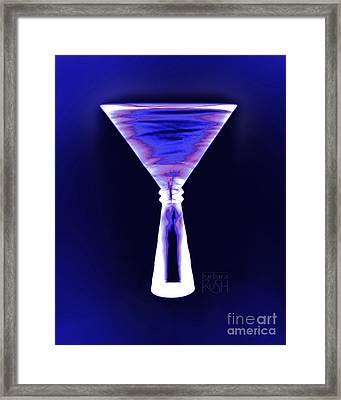 Cobalt With Purple Fringe Martini Framed Print