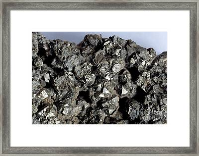Cobaltine Mineral Framed Print by Spl